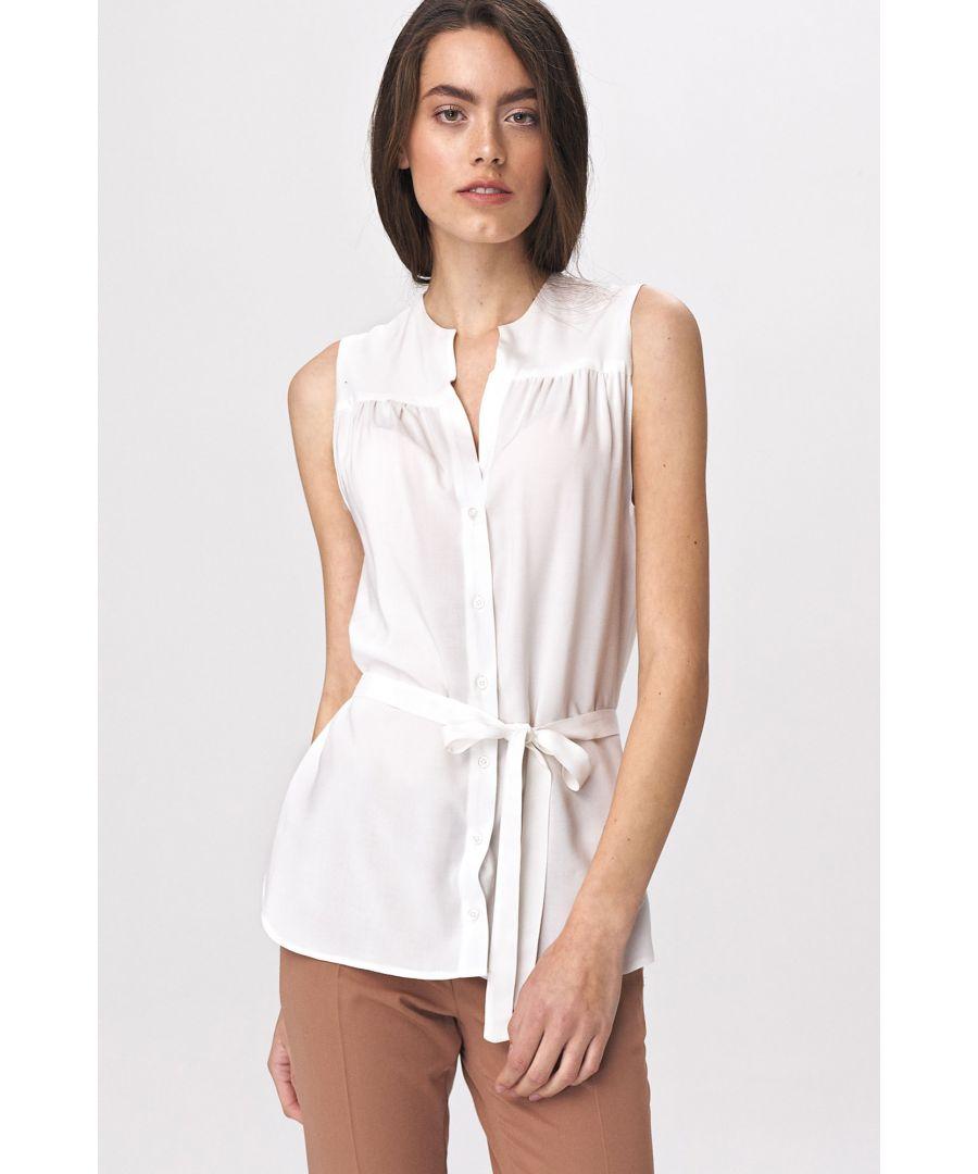Image for Lovely sleeveless blouse - ecru