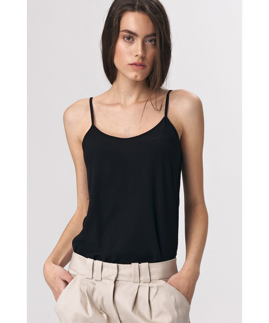 Image for Black smooth top with straps