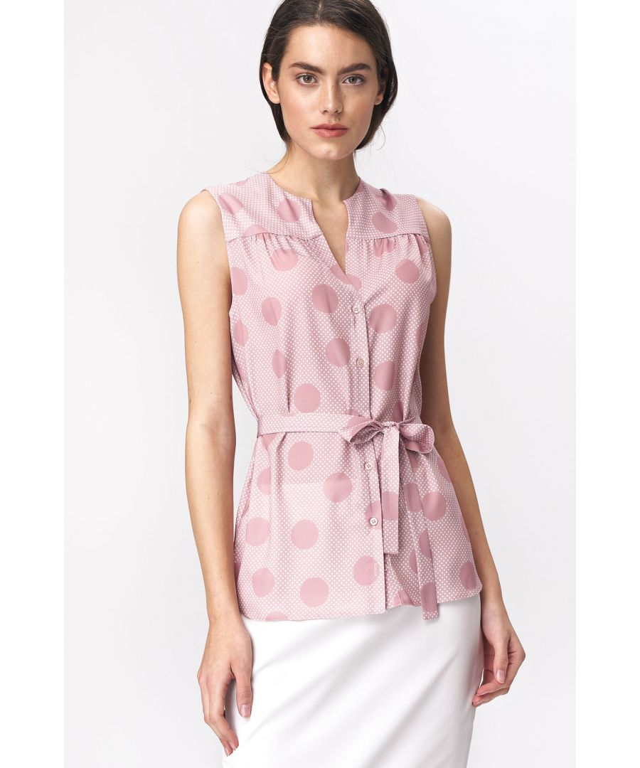 Image for Pinky sleeveless blouse - peas pattern