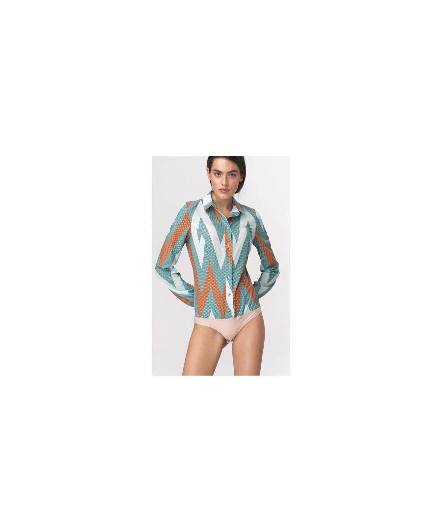 Image for Body blouse - zigzag