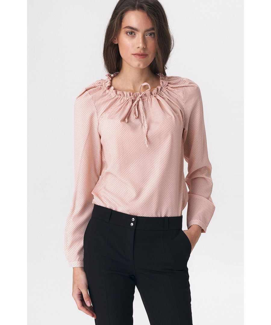 Image for Pinky blouse with girlish tie