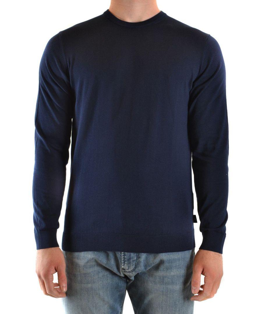 Image for EMPORIO ARMANI MEN'S 3H1MY51MD0Z0933 BLUE COTTON SWEATER