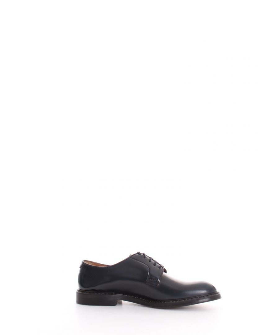 Image for DOUCAL'S MEN'S DU1385PHOEUY007NB10 BLUE LEATHER LACE-UP SHOES