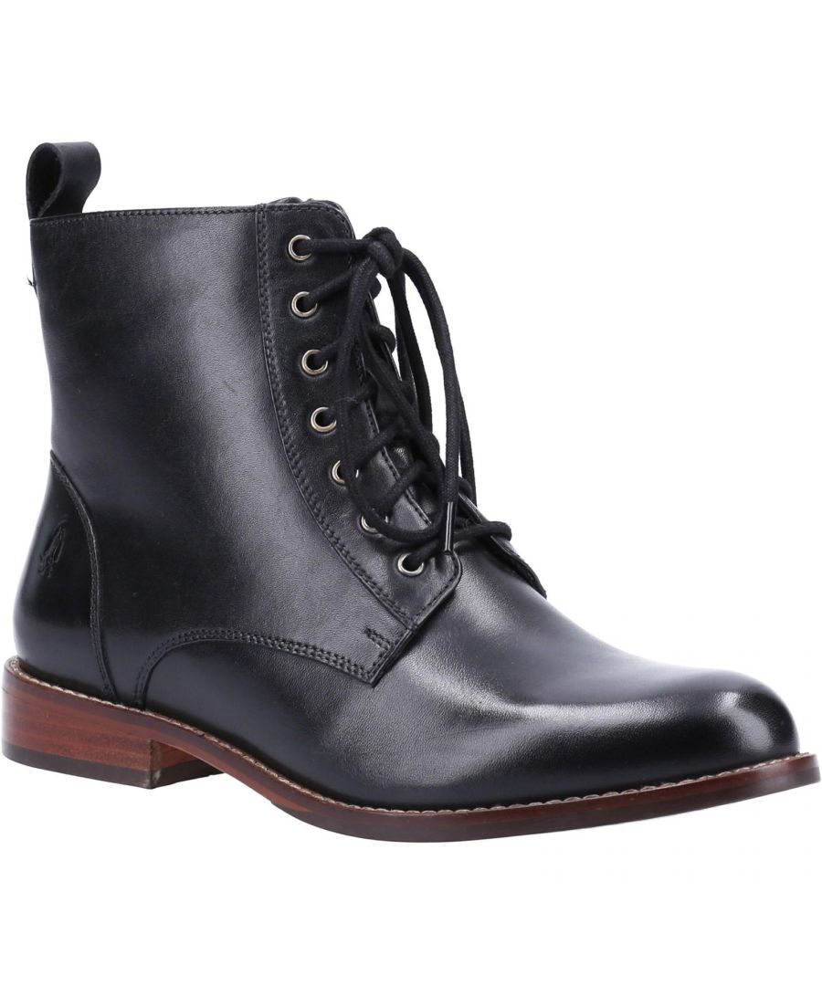 Image for Hush Puppies Womens/Ladies Josie Leather Ankle Boots (Black)