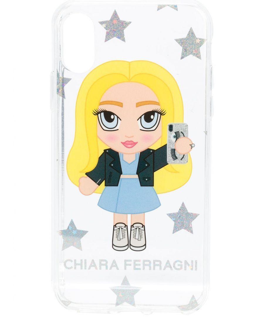 Image for CHIARA FERRAGNI WOMEN'S CFCIPXS042TRP WHITE PVC COVER