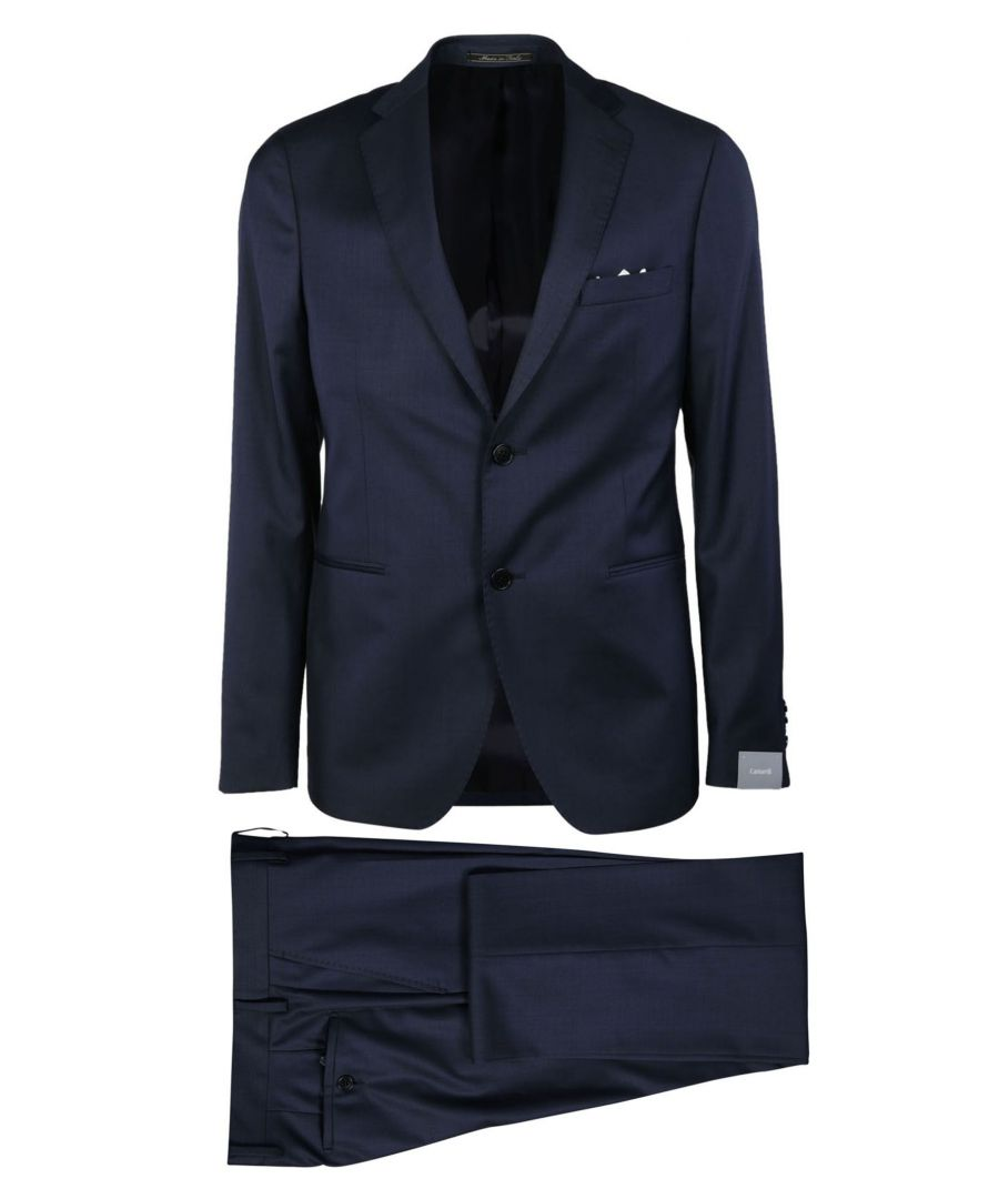 Image for CANTARELLI MEN'S 919322582491162 BLUE WOOL SUIT