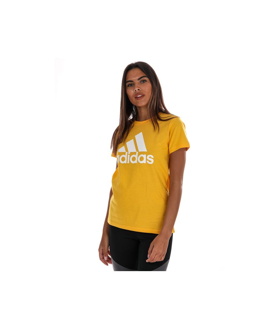 Image for Women's Adidas Must Haves Badge Of Sport T-Shirt in Gold