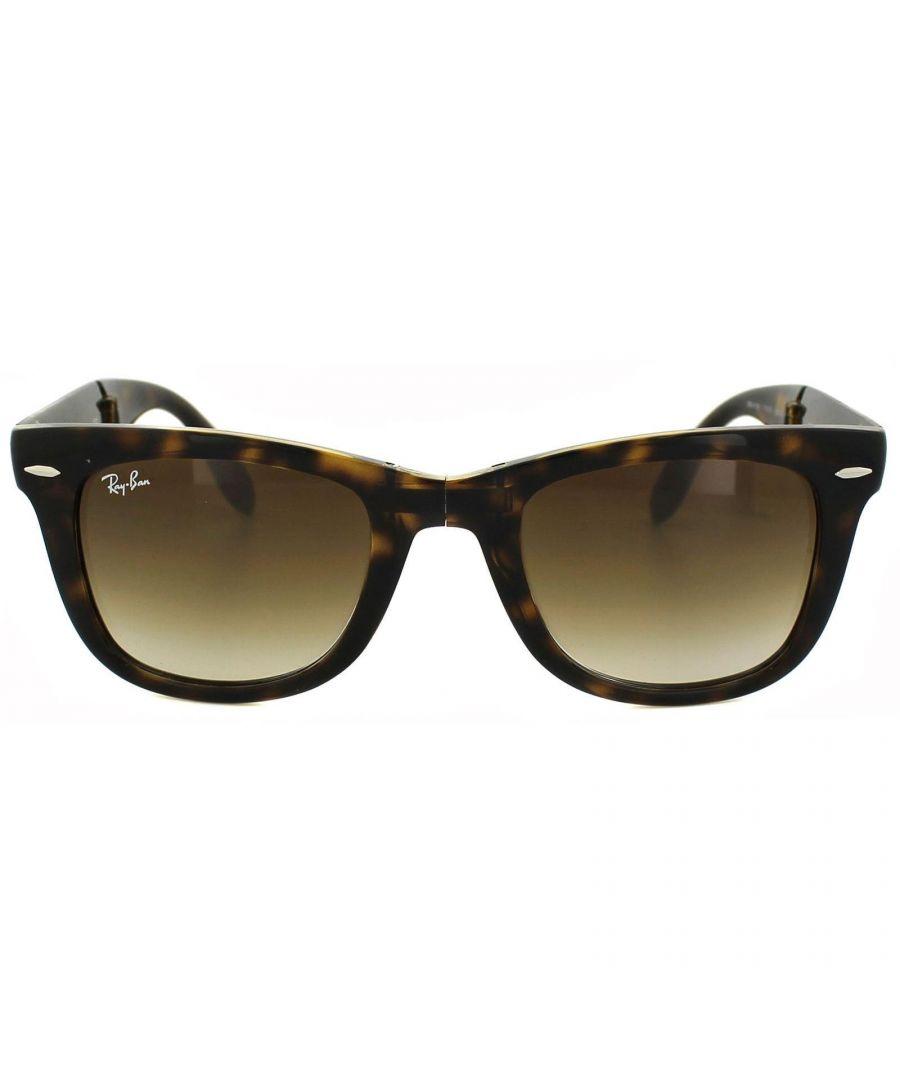 Image for Ray-Ban Sunglasses Folding Wayfarer 4105 Light Havana Brown Gradient 710/51 50mm