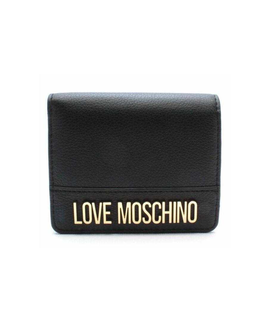 Image for Love Moschino Small Flip Purse in Black
