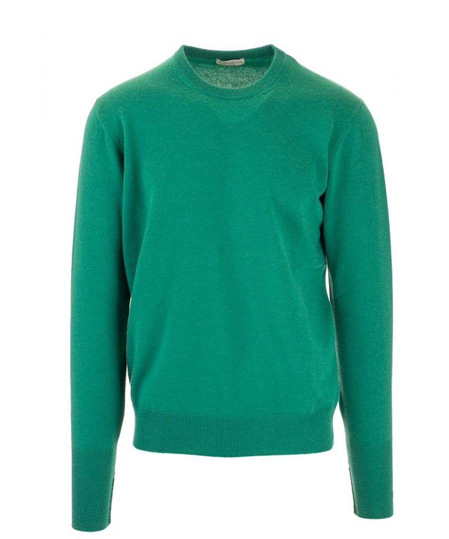Image for BALLANTYNE MEN'S P2P00012K0012874 GREEN CASHMERE SWEATER