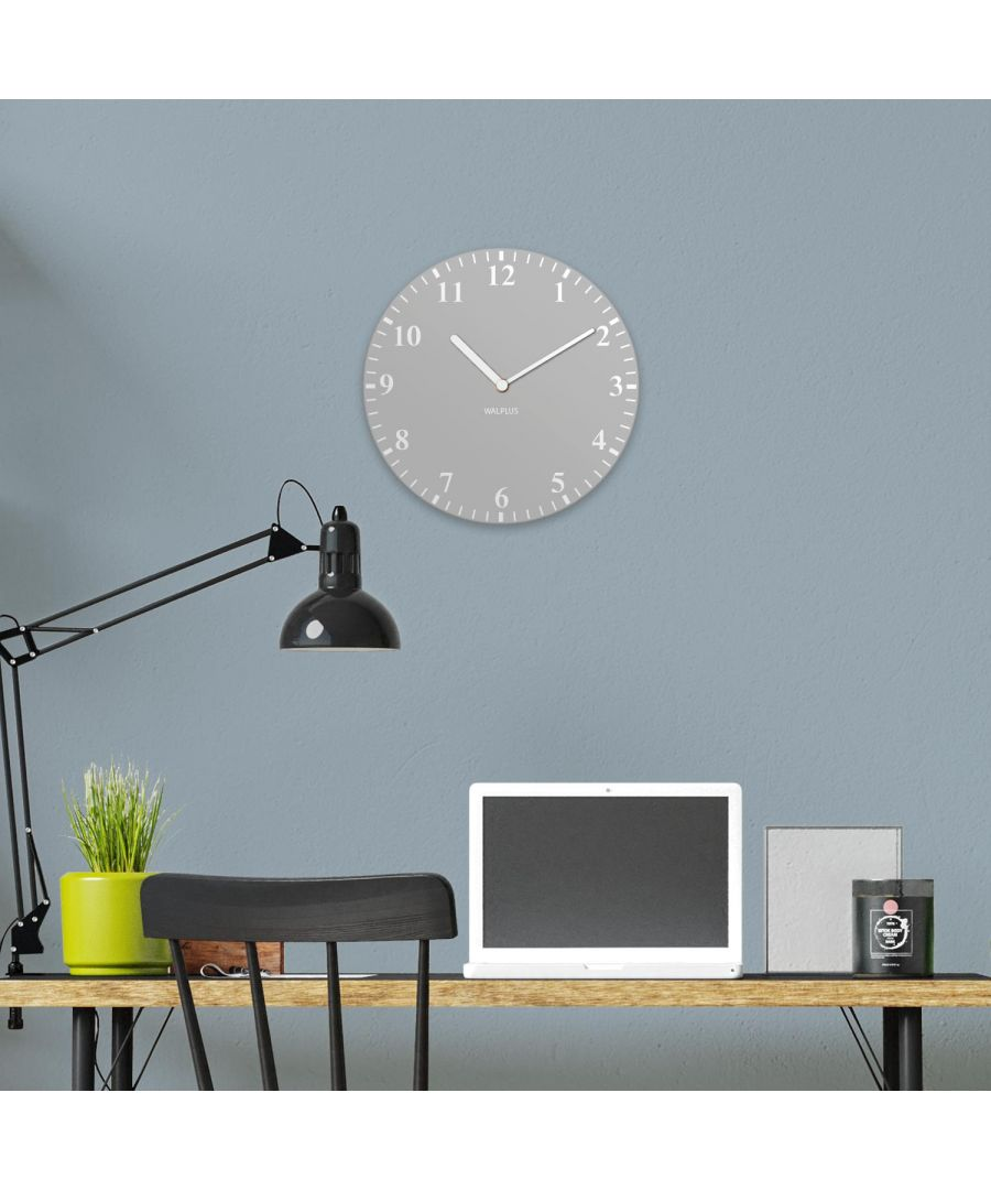 Image for Light Grey Solid Colour Classic Wall Clock wall clock, wall clock modern 30 cm x 30 cm x 2.5 cm 1 piece