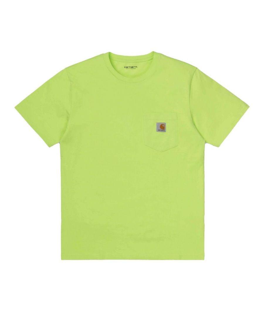 Image for CARHARTT MEN'S I02209109E00 GREEN COTTON T-SHIRT