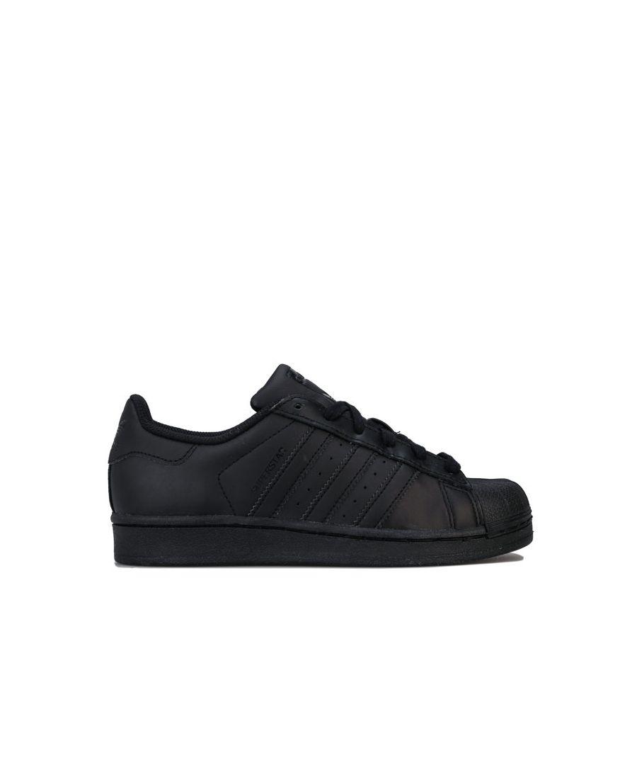 Image for Boy's adidas Originals Junior Superstar Trainers in Black