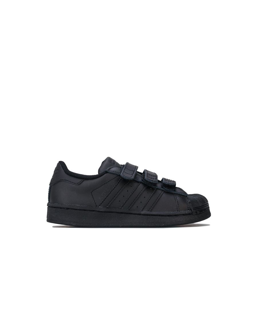Image for Boy's adidas Originals Children Superstar Trainers in Black