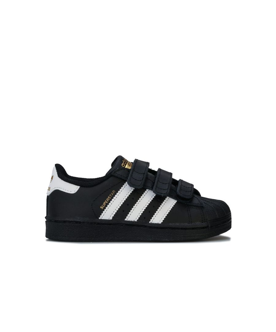 Image for Boy's adidas Originals Children Superstar Trainers in Black
