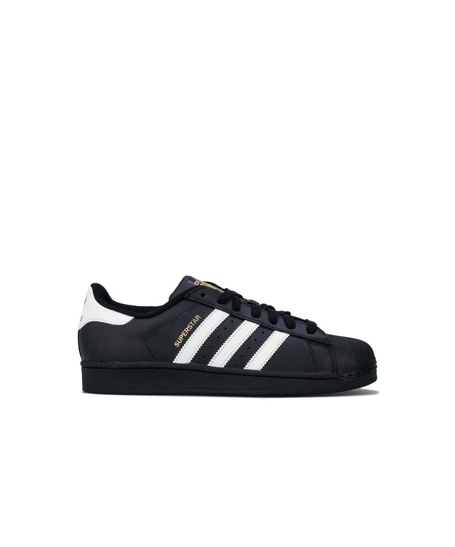 Image for Men's adidas Originals Superstar Foundation Trainers in Black-White