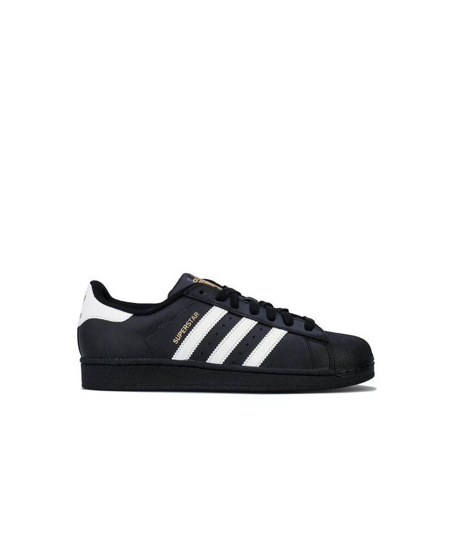 Image for Boy's adidas Originals Superstar Foundation Trainers in Black-White