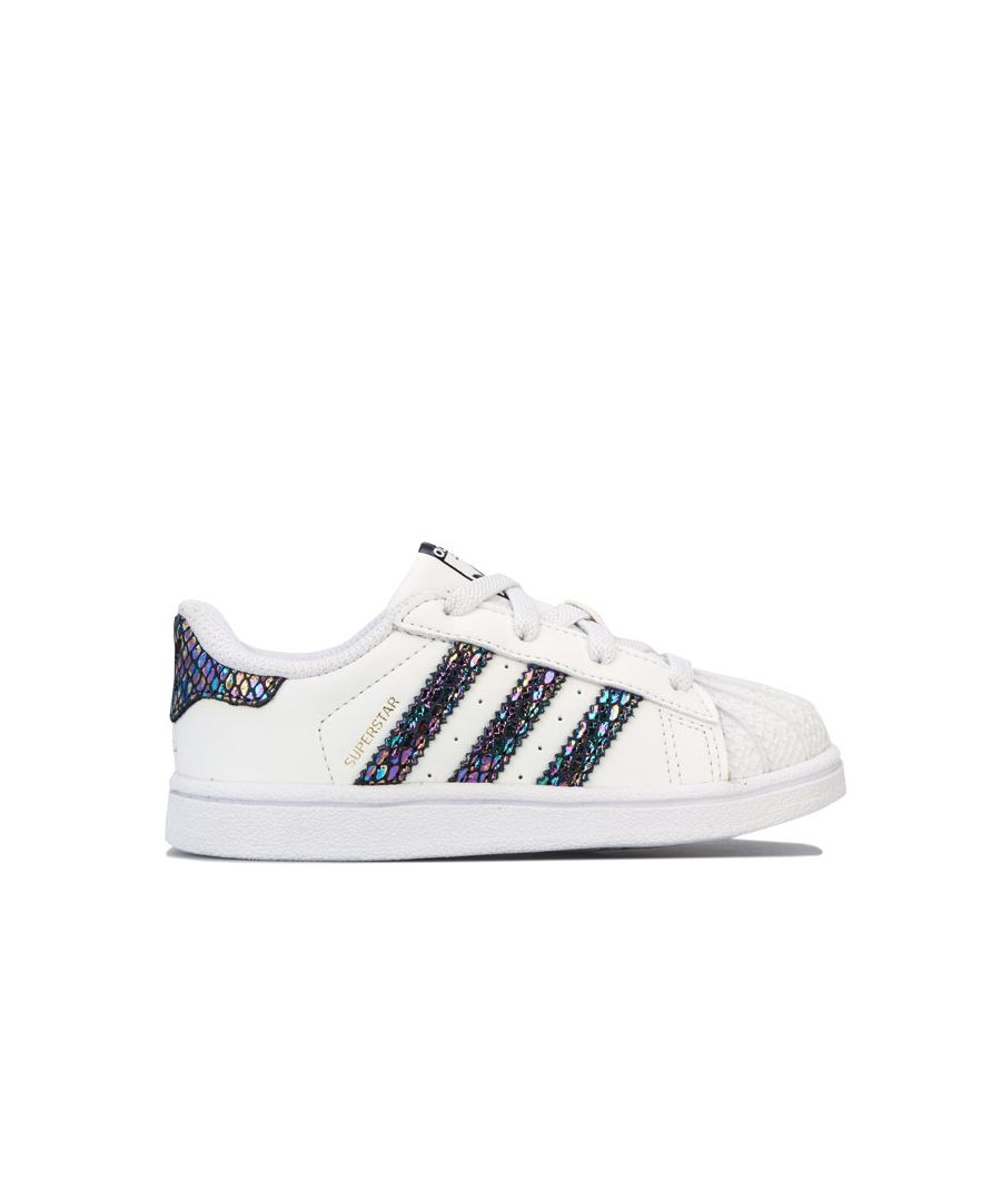 Image for Boy's adidas Originals Infants Metallic Snake Superstar Trainers in White