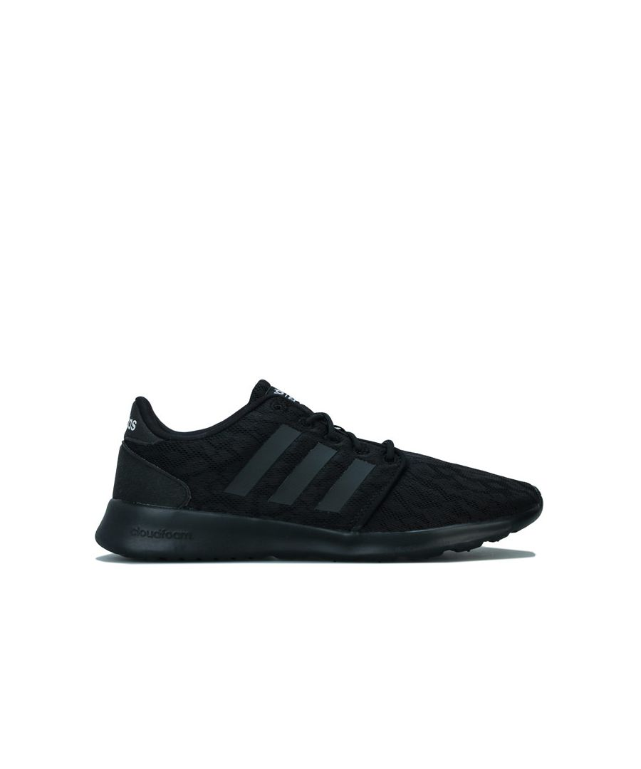 Image for Women's adidas Cloudfoam QT Racer Trainers in Black-White