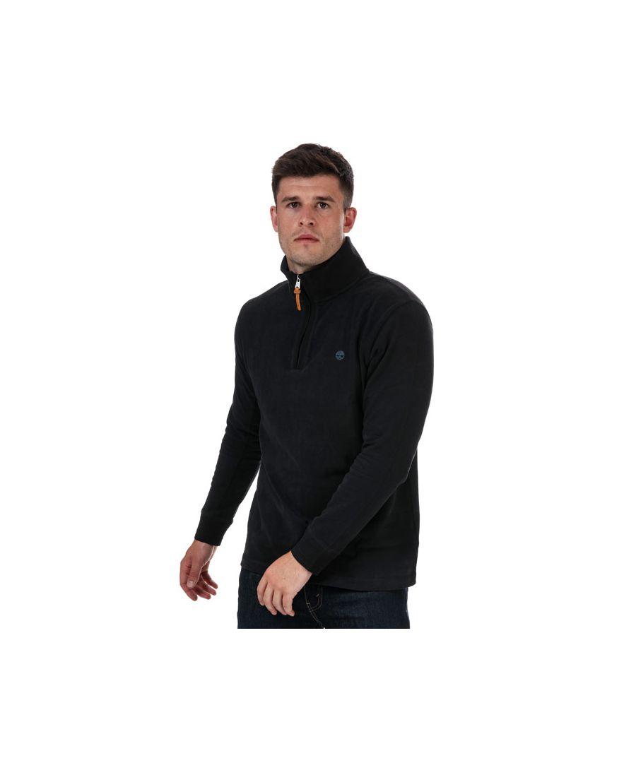 Image for Men's Timberland 1/2 Zip Top in Black