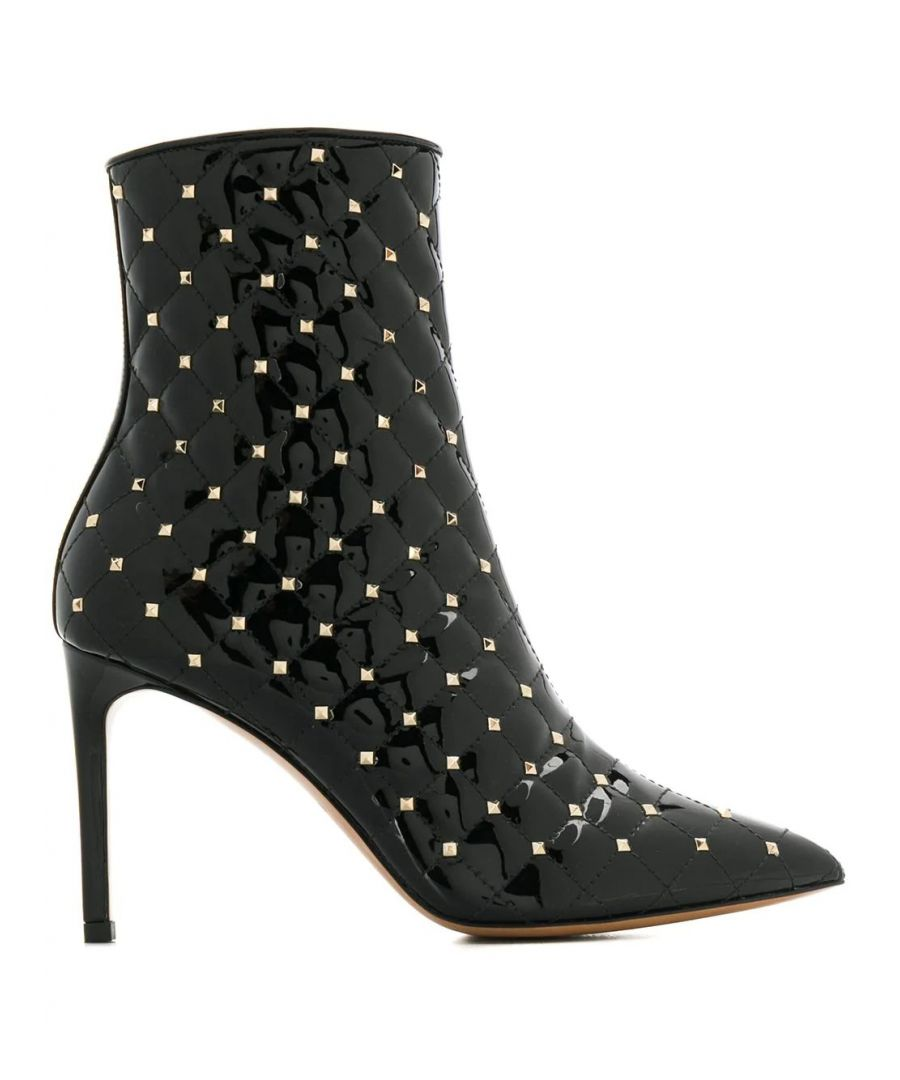 Image for VALENTINO WOMEN'S SW2S0I06HNQ0NO BLACK LEATHER ANKLE BOOTS