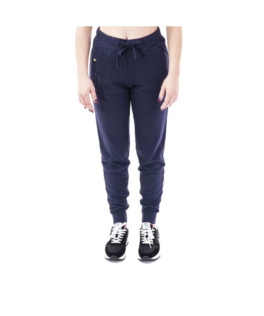 Image for SUN 68 WOMEN'S F3020607 BLUE COTTON JOGGERS