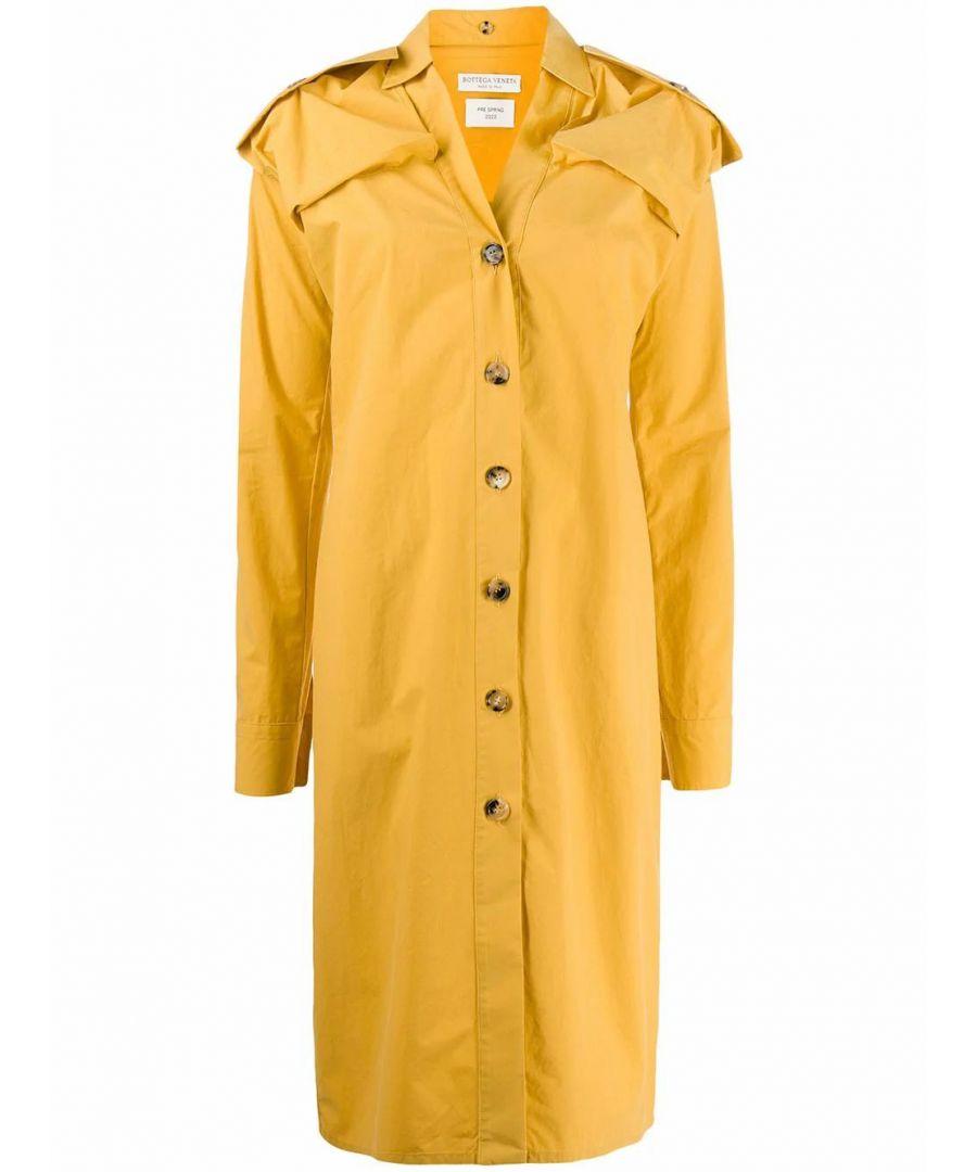 Image for BOTTEGA VENETA WOMEN'S 601033VKH507101 YELLOW COTTON DRESS