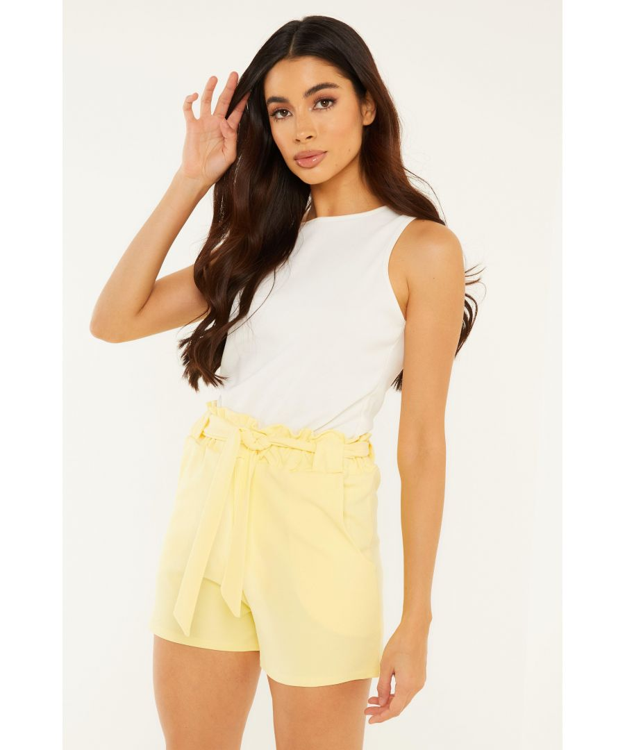 Image for Yellow Paperbag Shorts