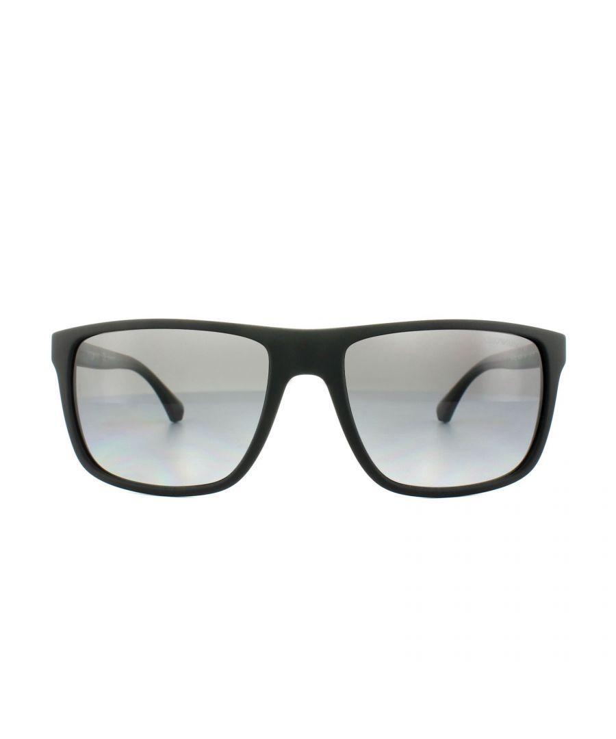 Image for Emporio Armani Sunglasses 4033 5229T3 Black Grey Rubber Grey Gradient Polarized