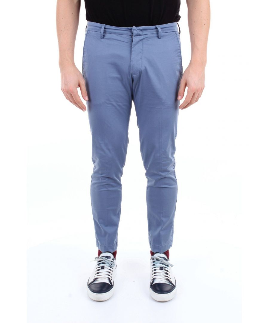 Image for MICHAEL COAL MEN'S BRAD2400CAVION BLUE COTTON PANTS