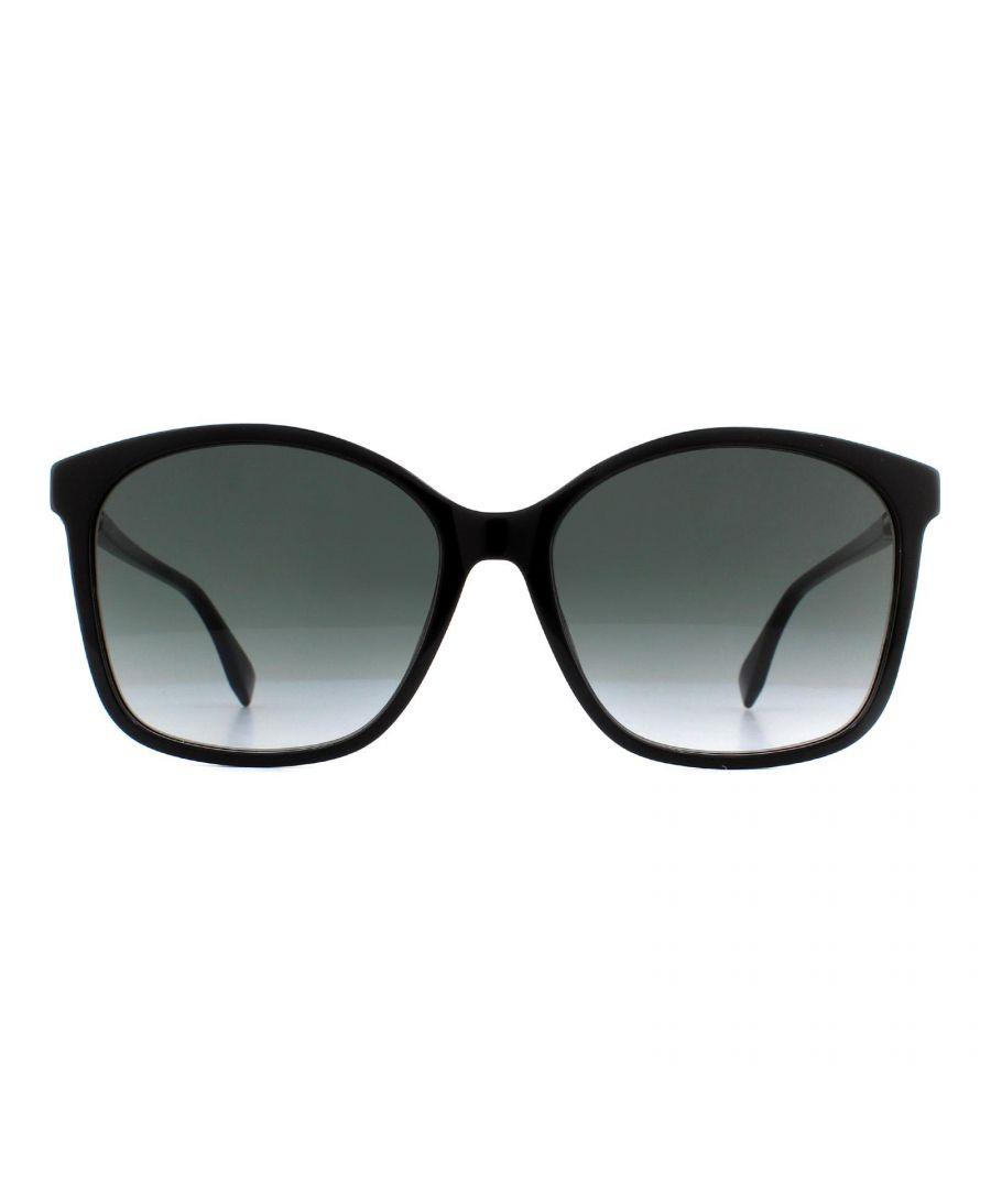 Image for Fendi Sunglasses FF 0361/F/S 807 9O Black Grey Gradient