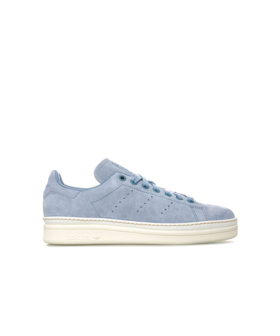 Image for Women's adidas Originals Stan Smith New Bold Trainers in Grey blue