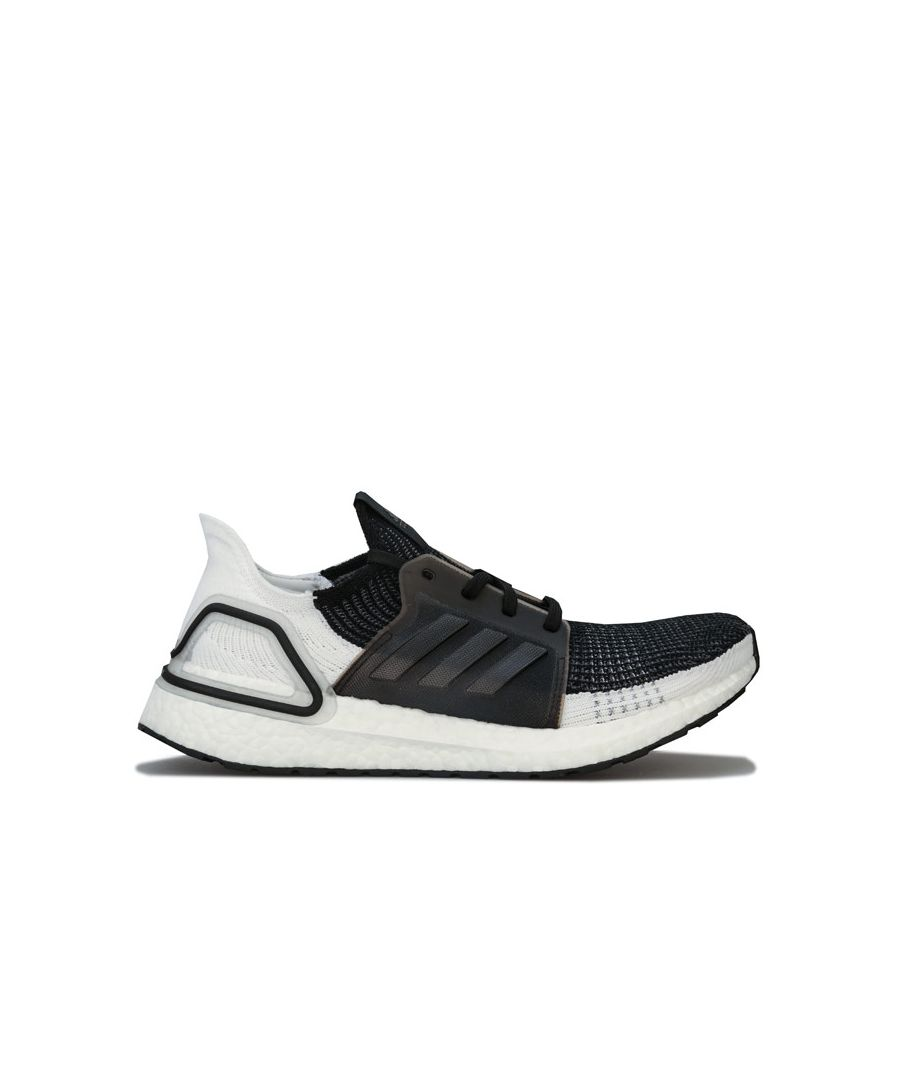 Image for Men's adidas Ultraboost 19 Running Shoes in Black Grey
