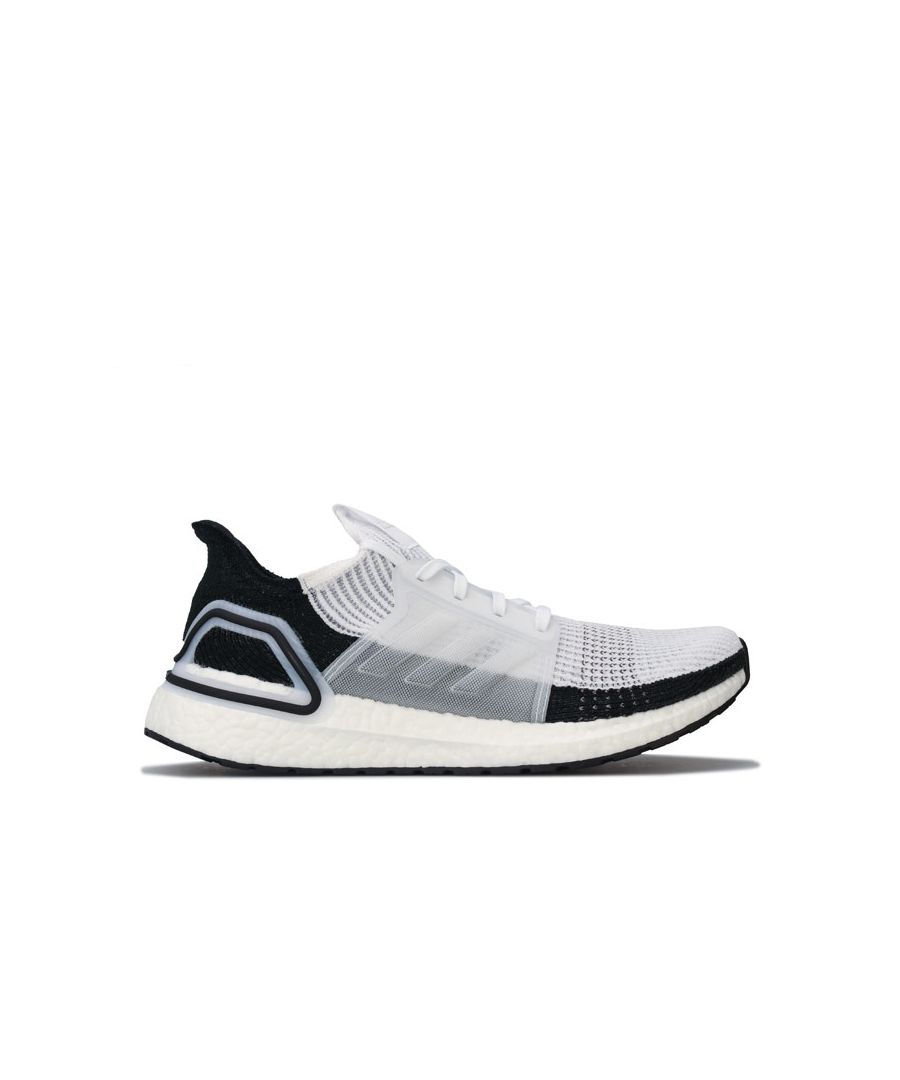 Image for Men's adidas UltraBoost 19 Running Shoes in White Black