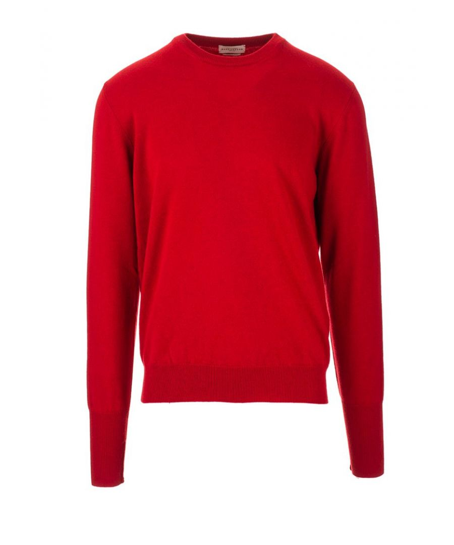 Image for BALLANTYNE MEN'S P2P00012K0002163 RED CASHMERE SWEATER