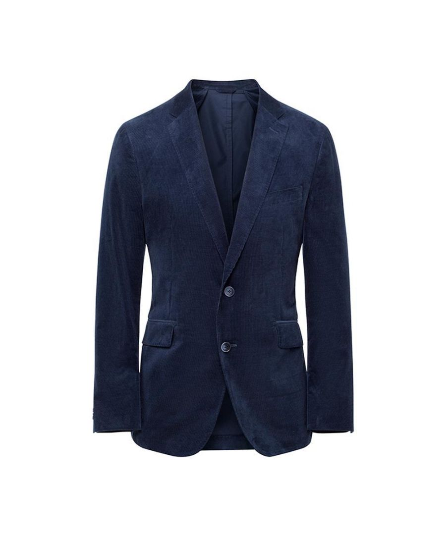 Image for Men's Hackett, Stretch Cotton Cord Jacket in Bright Navy