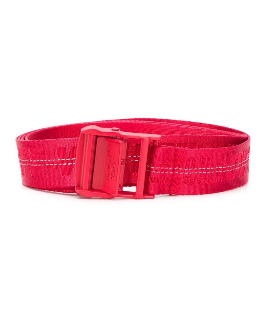 Image for OFF-WHITE WOMEN'S OWRB009S20FAB0012525 RED POLYESTER BELT