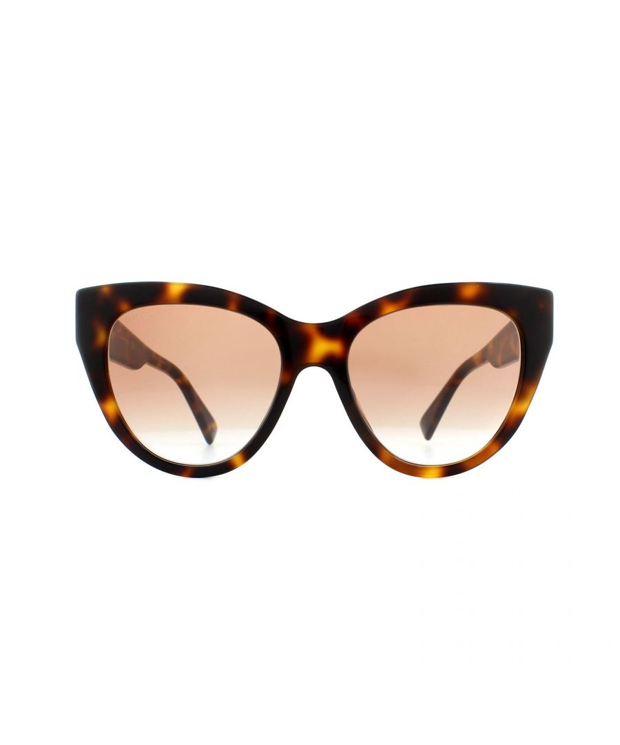 Image for Gucci Sunglasses GG0460S 004 Havana Brown Gradient