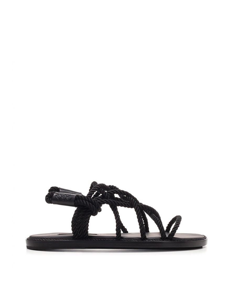 Image for ANN DEMEULEMEESTER WOMEN'S 20012828P390099 BLACK LEATHER SANDALS