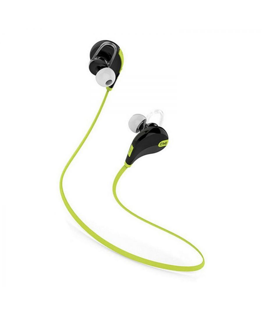 Image for Aquarius Wireless 200mAh Bluetooth Stereo Earphones Black/Green