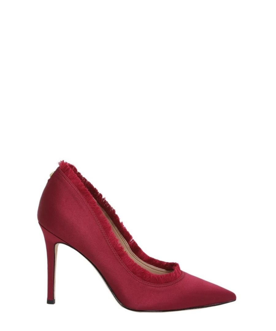 Image for SAM EDELMAN WOMEN'S F3464F1600CRANBERRY RED SATIN PUMPS