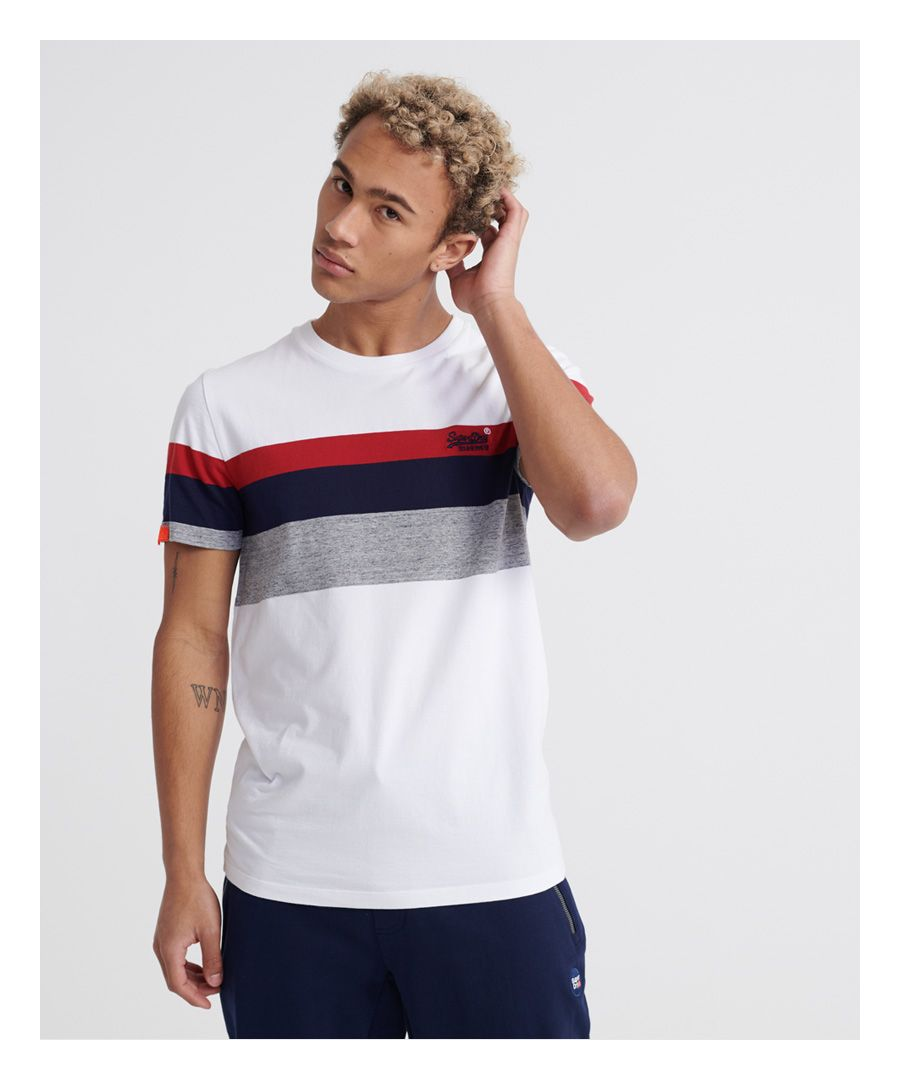 Image for Superdry Orange Label Classic Wide Stripe T-Shirt