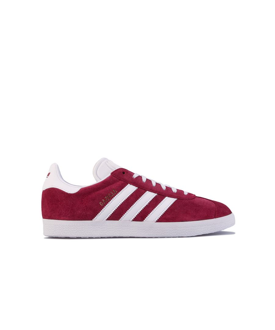Image for adidas Originals Gazelle Trainers in Burgundy