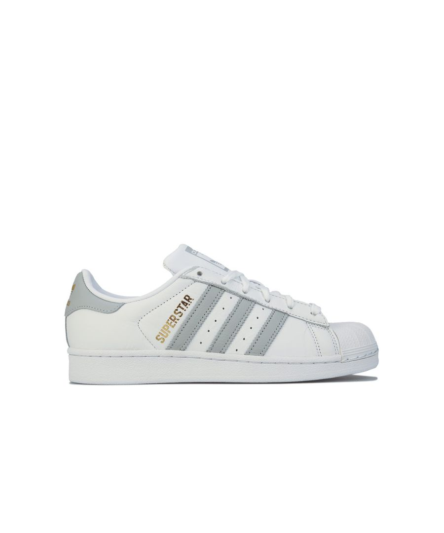 Image for Women's adidas Originals Superstar Trainers in White Grey