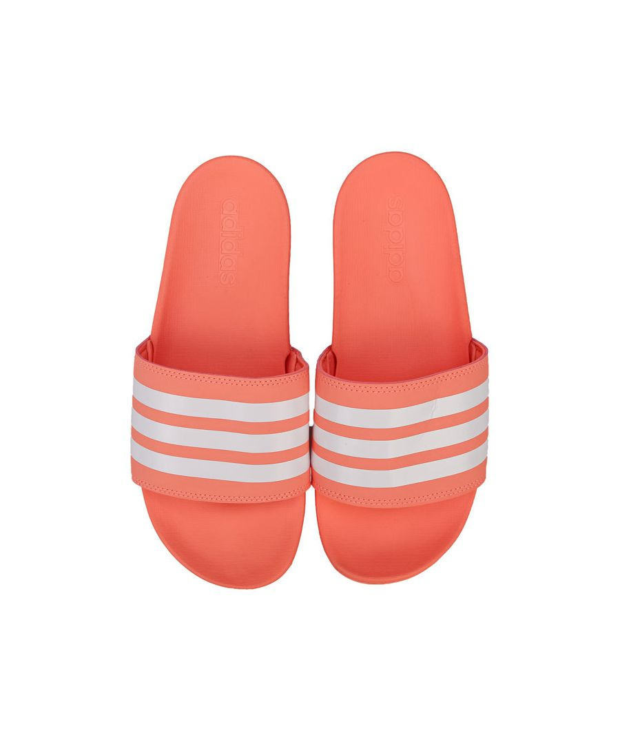 Image for Women's adidas Adilette Comfort Slide Sandals in Coral