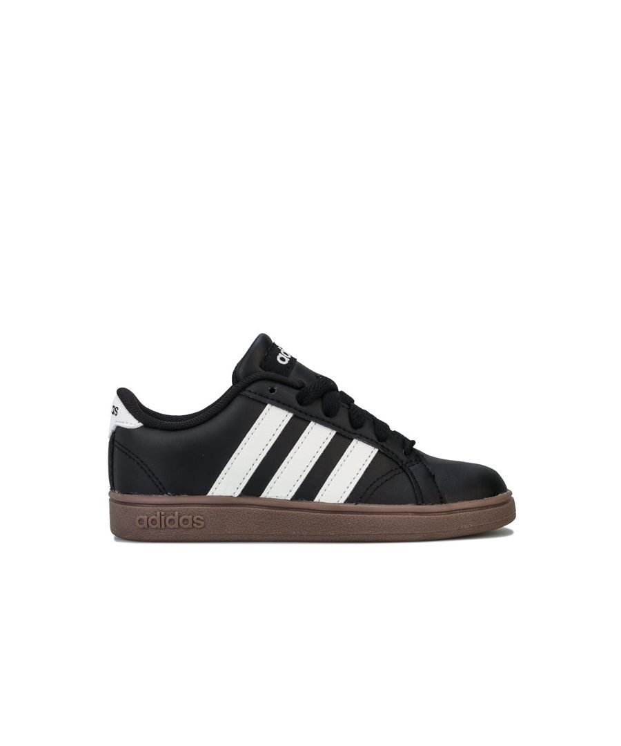 Image for Boy's adidas Junior Baseline Trainers in Black