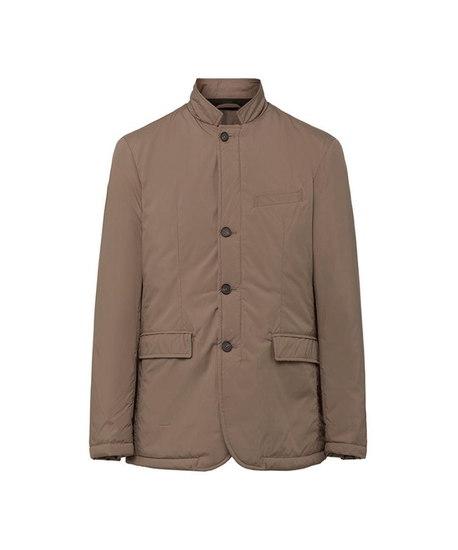 Image for Men's Hackett, Padded Blazer in Taupe