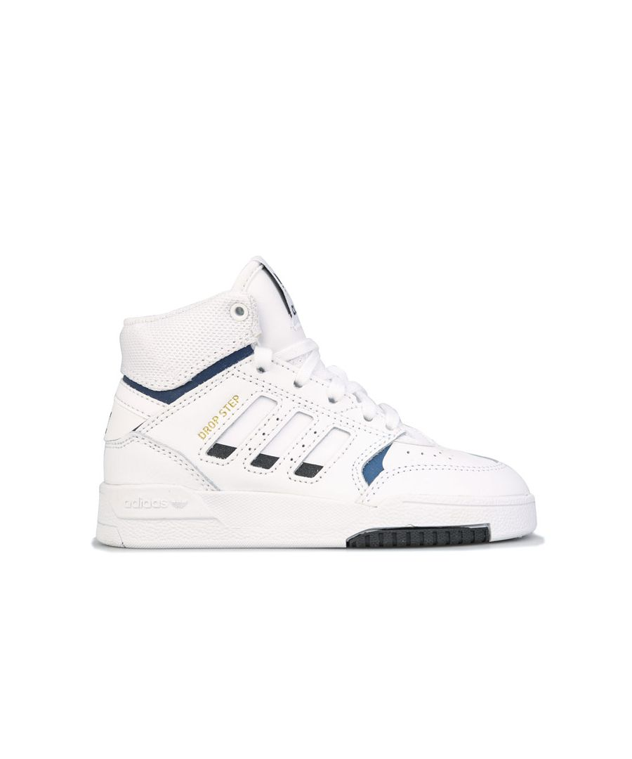 Image for Boy's adidas Originals Childrens Drop Step Trainers in White