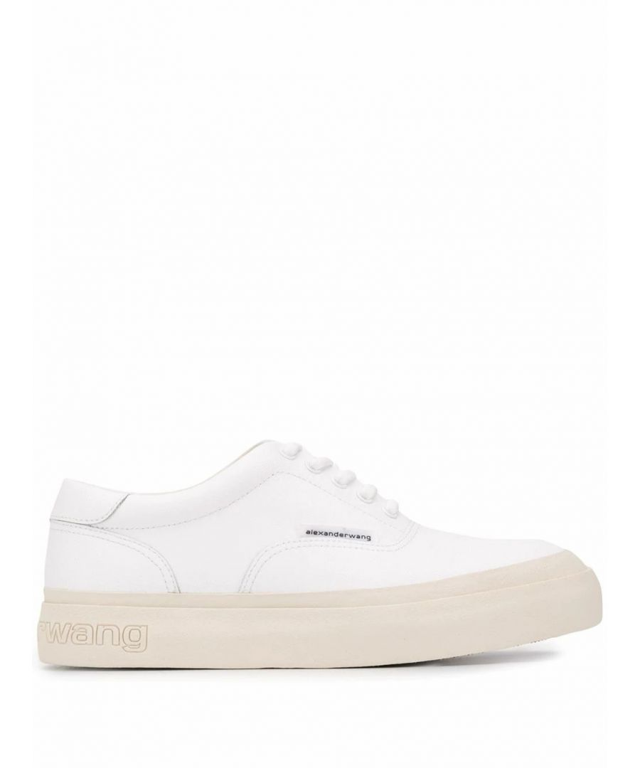 Image for ALEXANDER WANG WOMEN'S 30C120N061100 WHITE LEATHER SNEAKERS