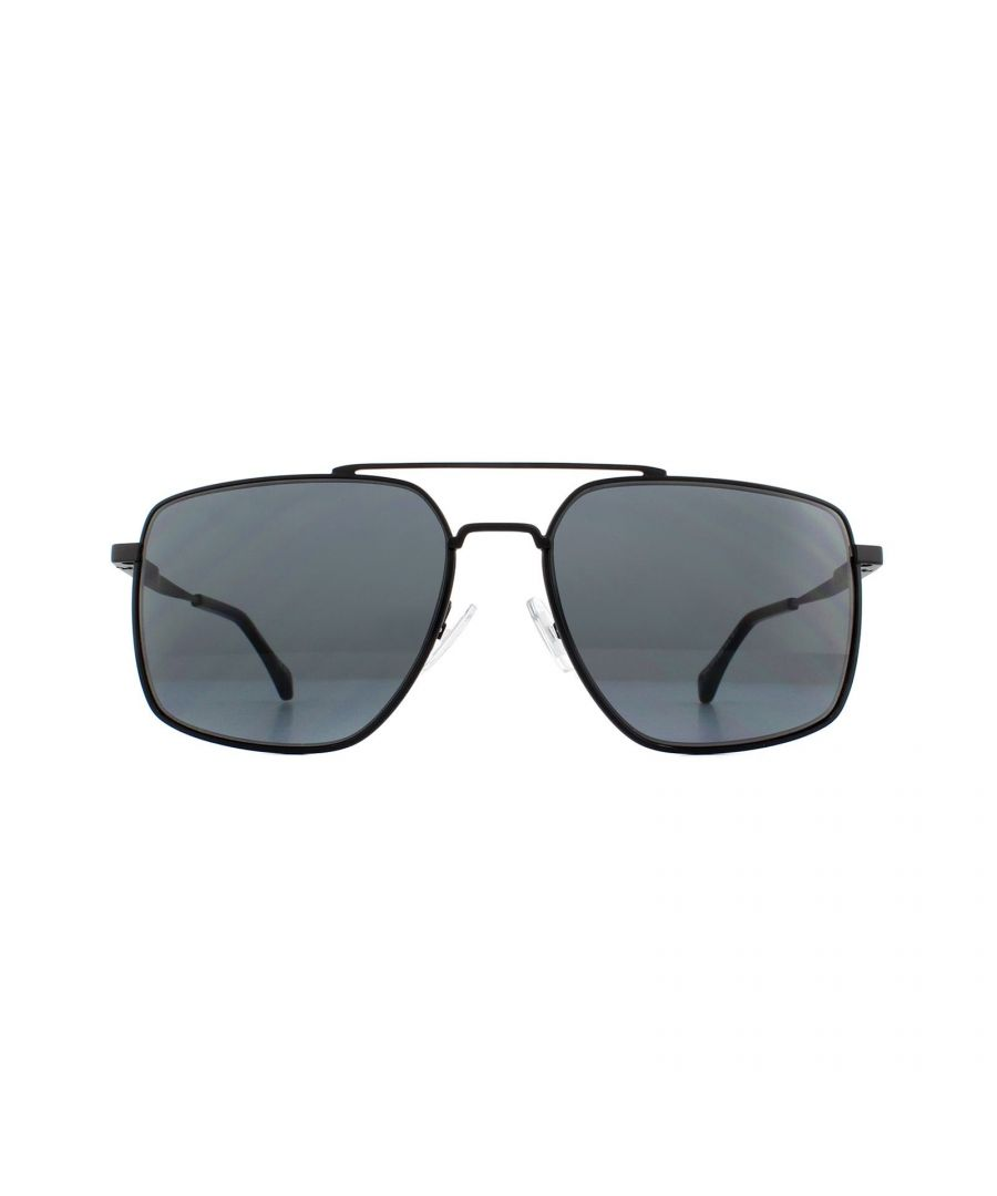 Image for Hugo Boss Sunglasses 1091/S 003 IR Matte Black Grey Blue